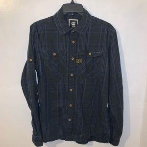 G-Star Raw Denim Button Up Shirt Men's Size Large